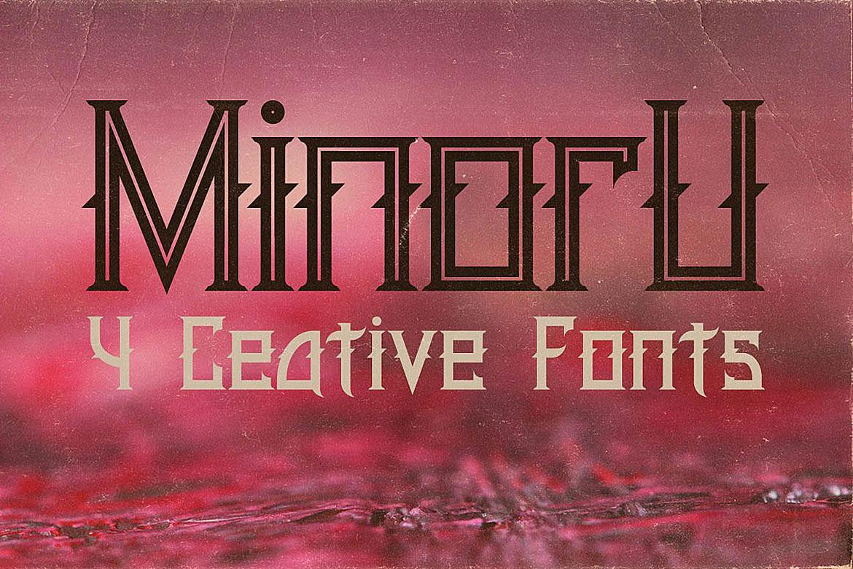 Minoru Font example image 2