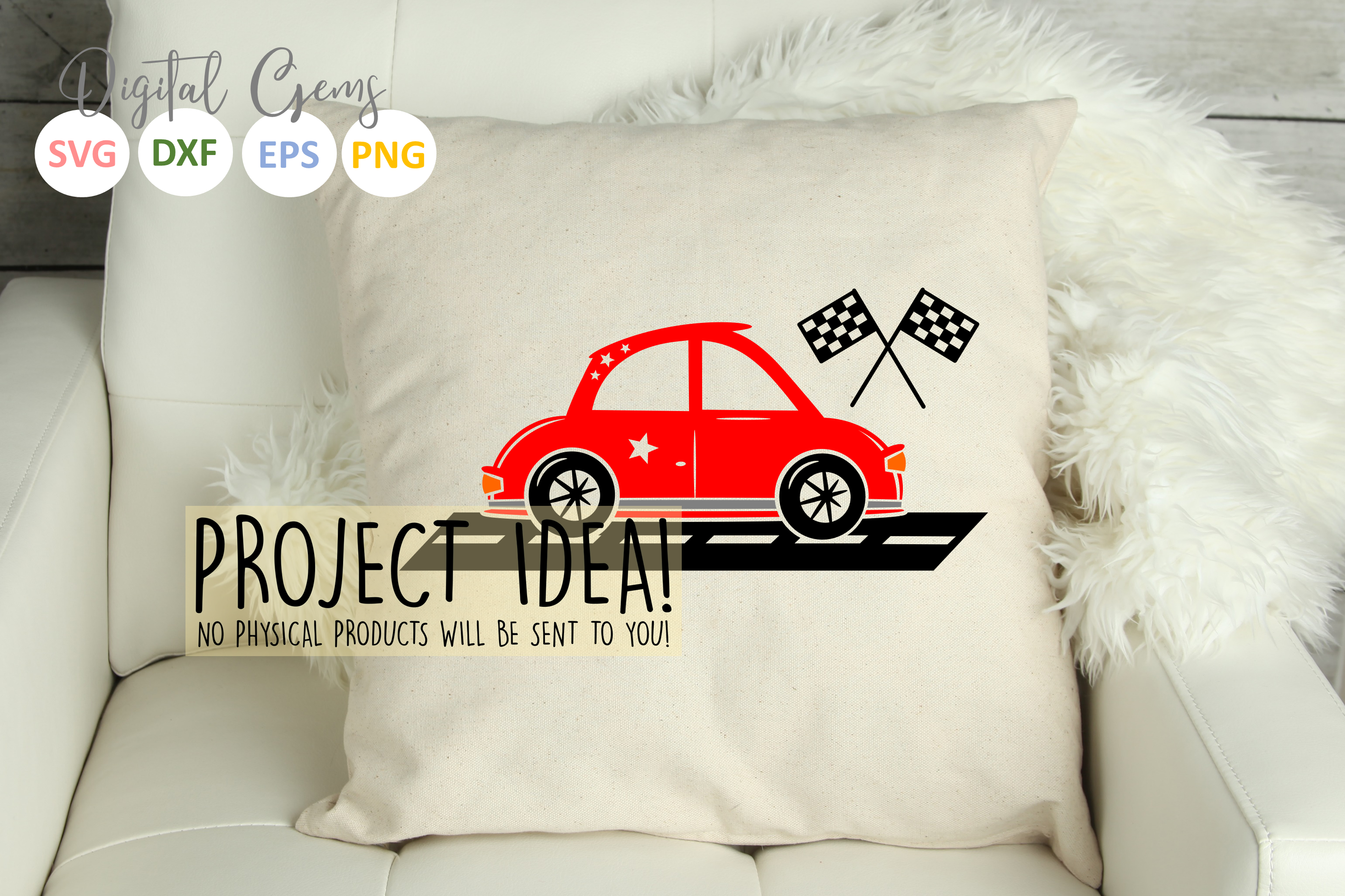 Race Car SVG / DXF / EPS / PNG files example image 3