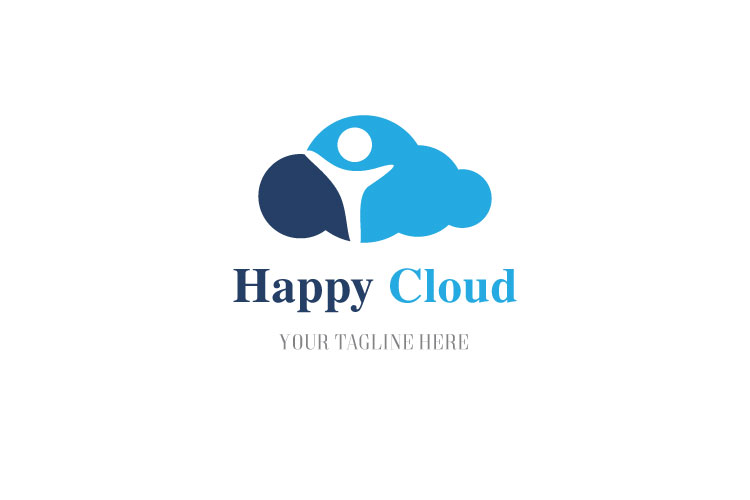 Happy Kid In Cloud Logo example image 1