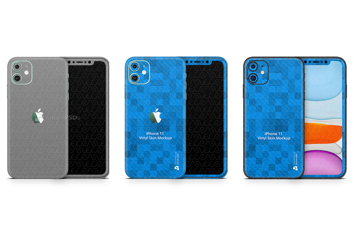 iPhone 11 2019 PSD Skin Mockup Template example image 1