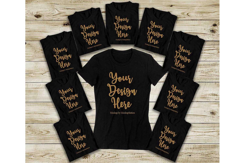 Bachelorette Party Shirts Mockup, Bridal Squad Tee Flat Lay example image 1