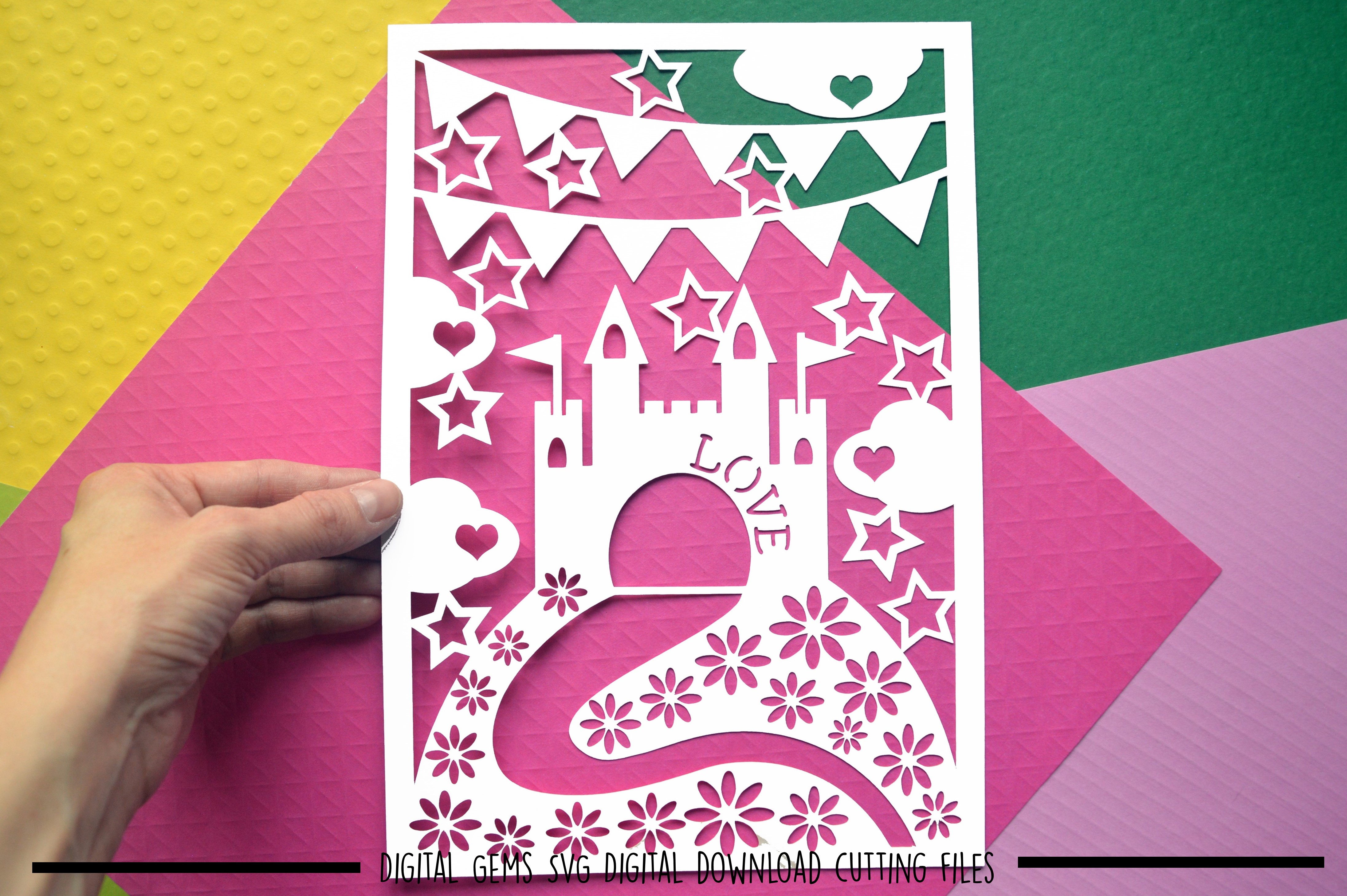 Castle paper cut SVG / DXF / EPS files example image 1