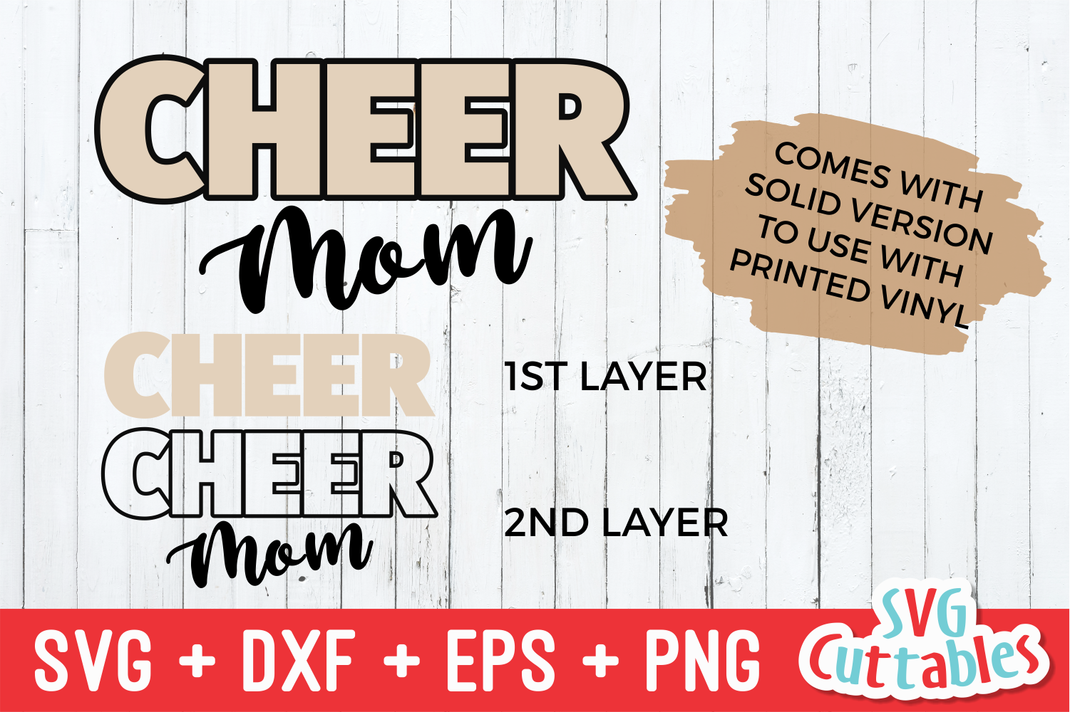Cheer Mom Leopard Print | SVG Cut File example image 3