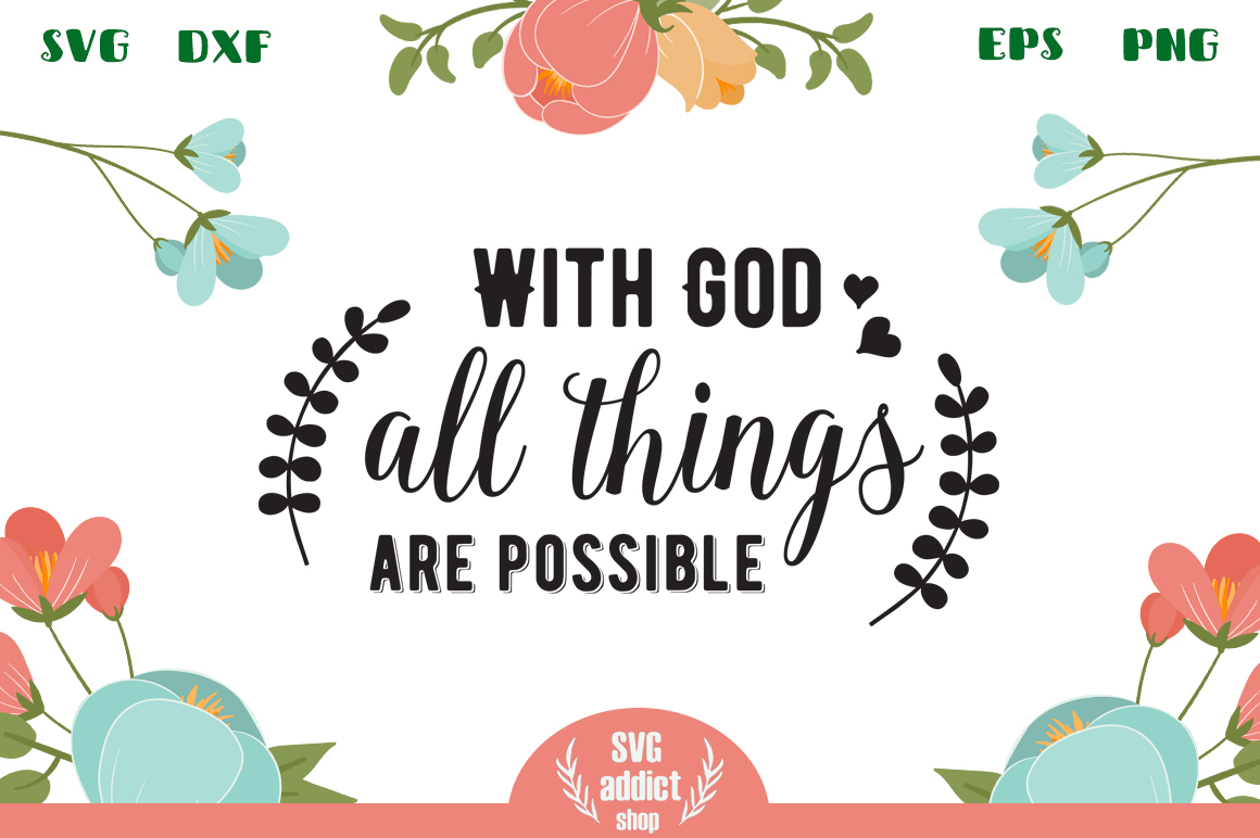 With God All Things Are Possible SVG Cut File example image 1