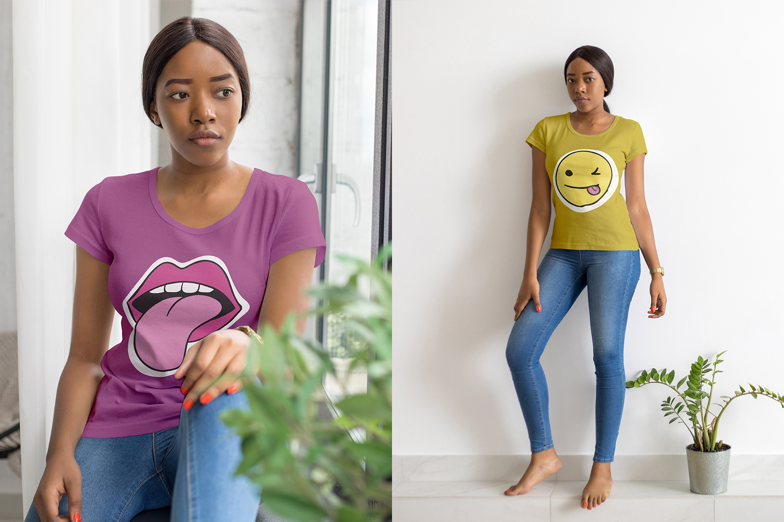 African Girl T-Shirt Mock-Up Set example image 8