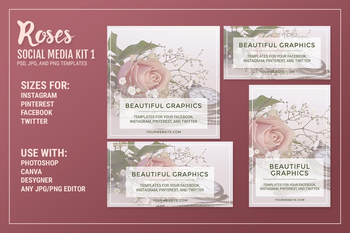 Roses Social Media Kit 1 example image 2