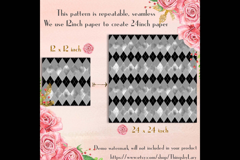 30 Seamless Black Silver Foil Basic Home Decor Print Pattern example image 10