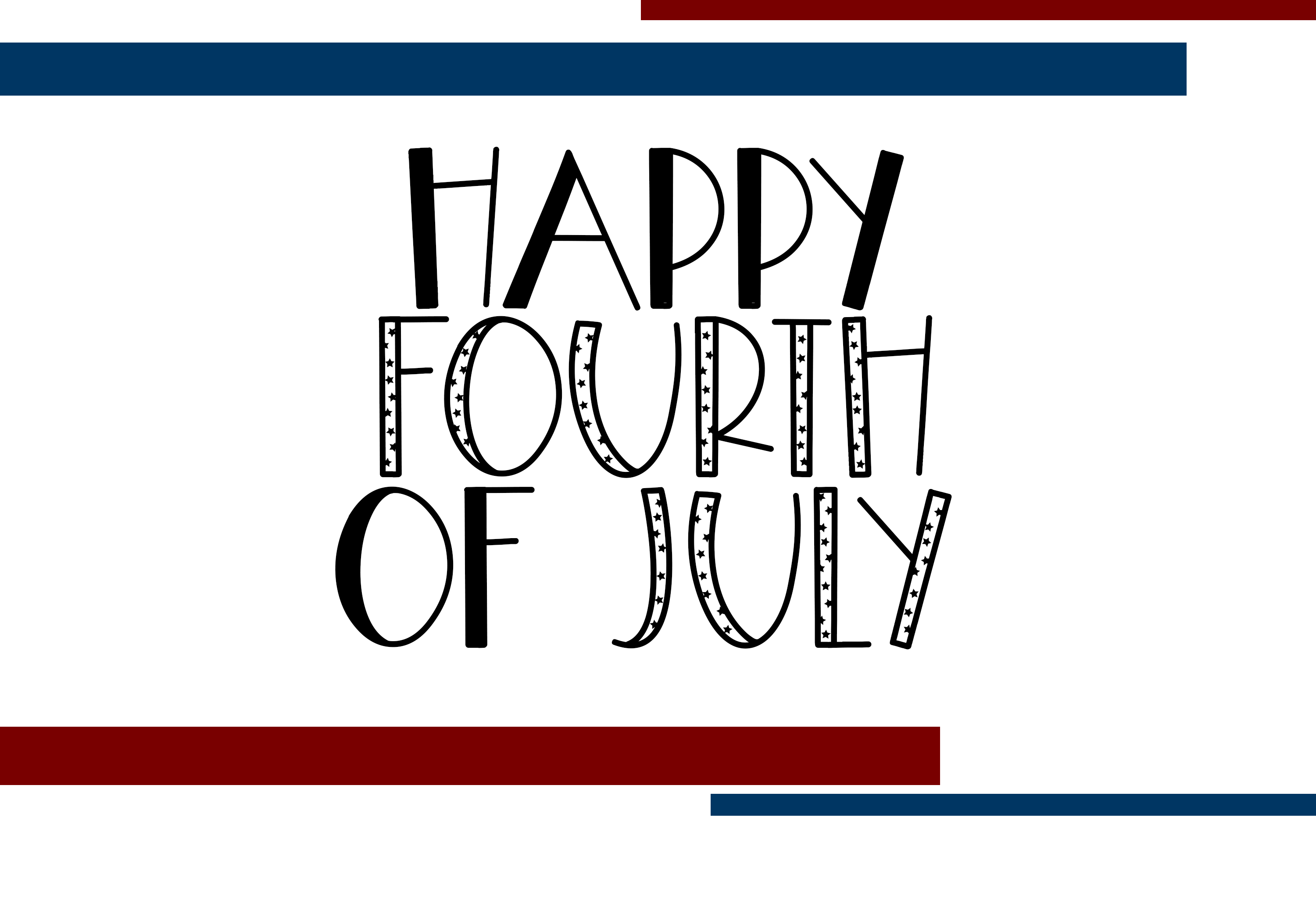 Freedom - A Fun Patriotic Font example image 7