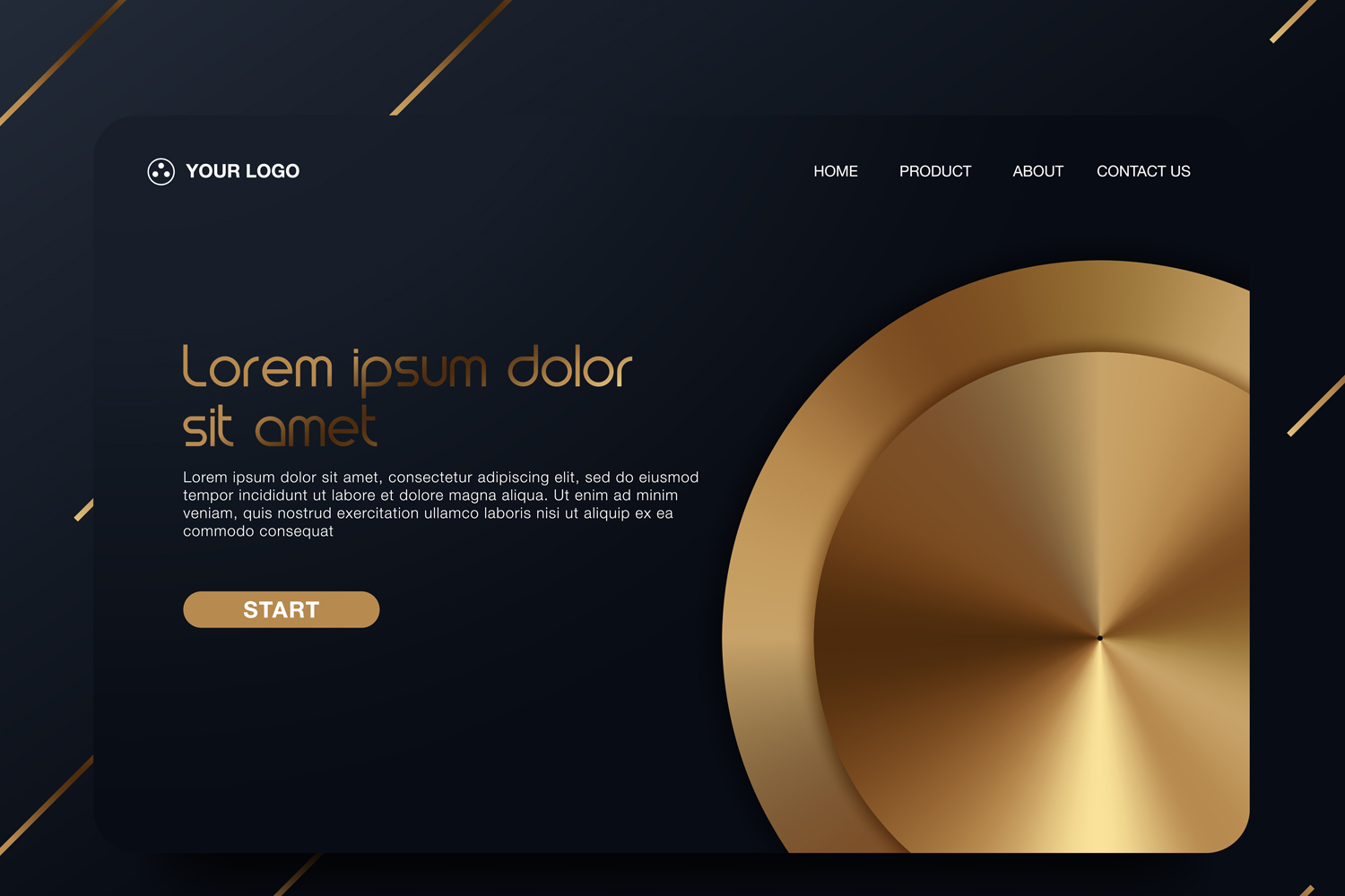 20 - Abstract background design. Landing page template example image 17