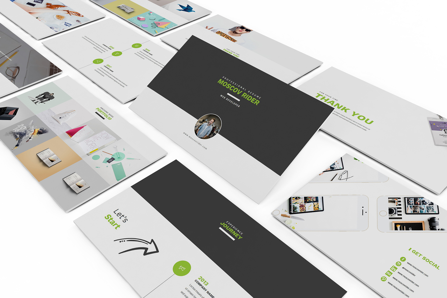 Resume CV Powerpoint Template example image 4