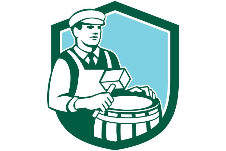 Cooper Barrel Maker Drum Retro Shield example image 1