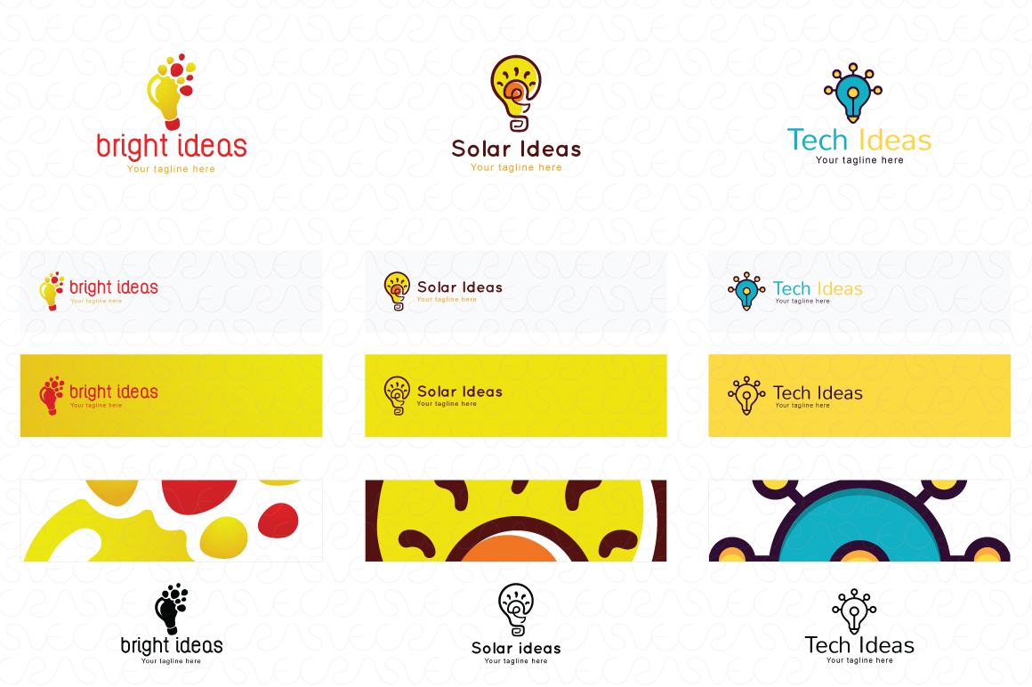 Ideas Bulb Logo Templates Pack of 13 Awesome unique designs example image 4
