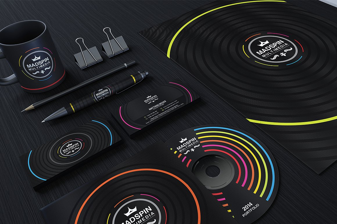 Colorful Corporate Identity example image 1
