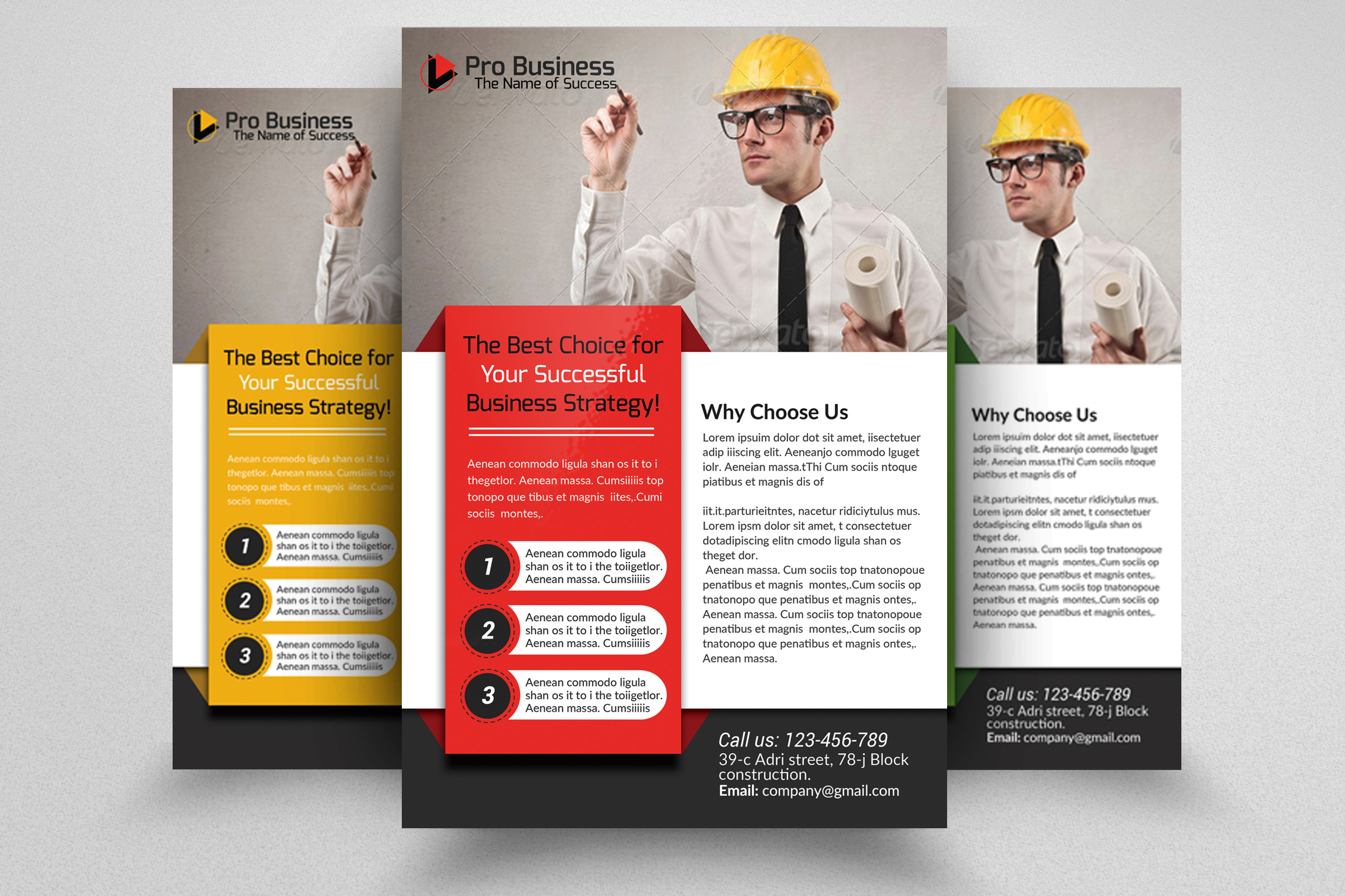 Civil Engineer & Architect Business Flyer  example image 1