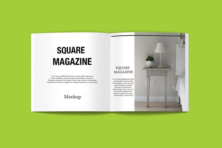 Square Magazine Mockup example image 10