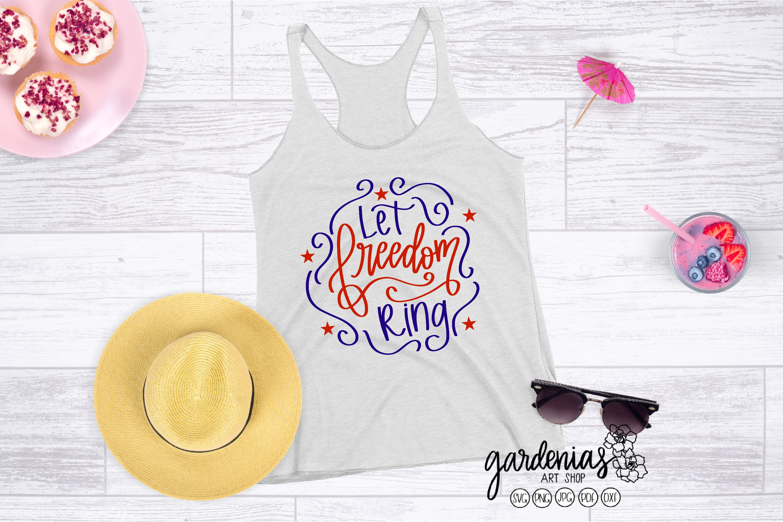 Let Freedom Ring svg | 4th of July Cut File | Patriotic svg example image 1