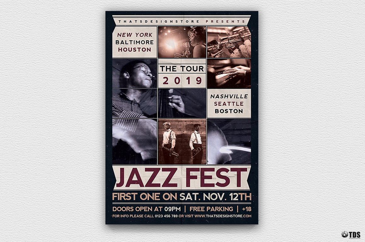 Jazz Fest Flyer Template example image 2