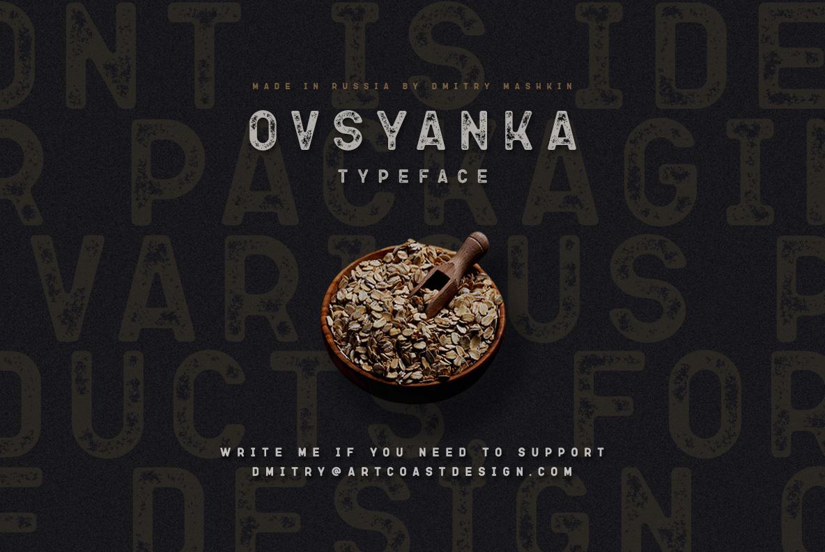 Ovsyanka Typeface example image 8