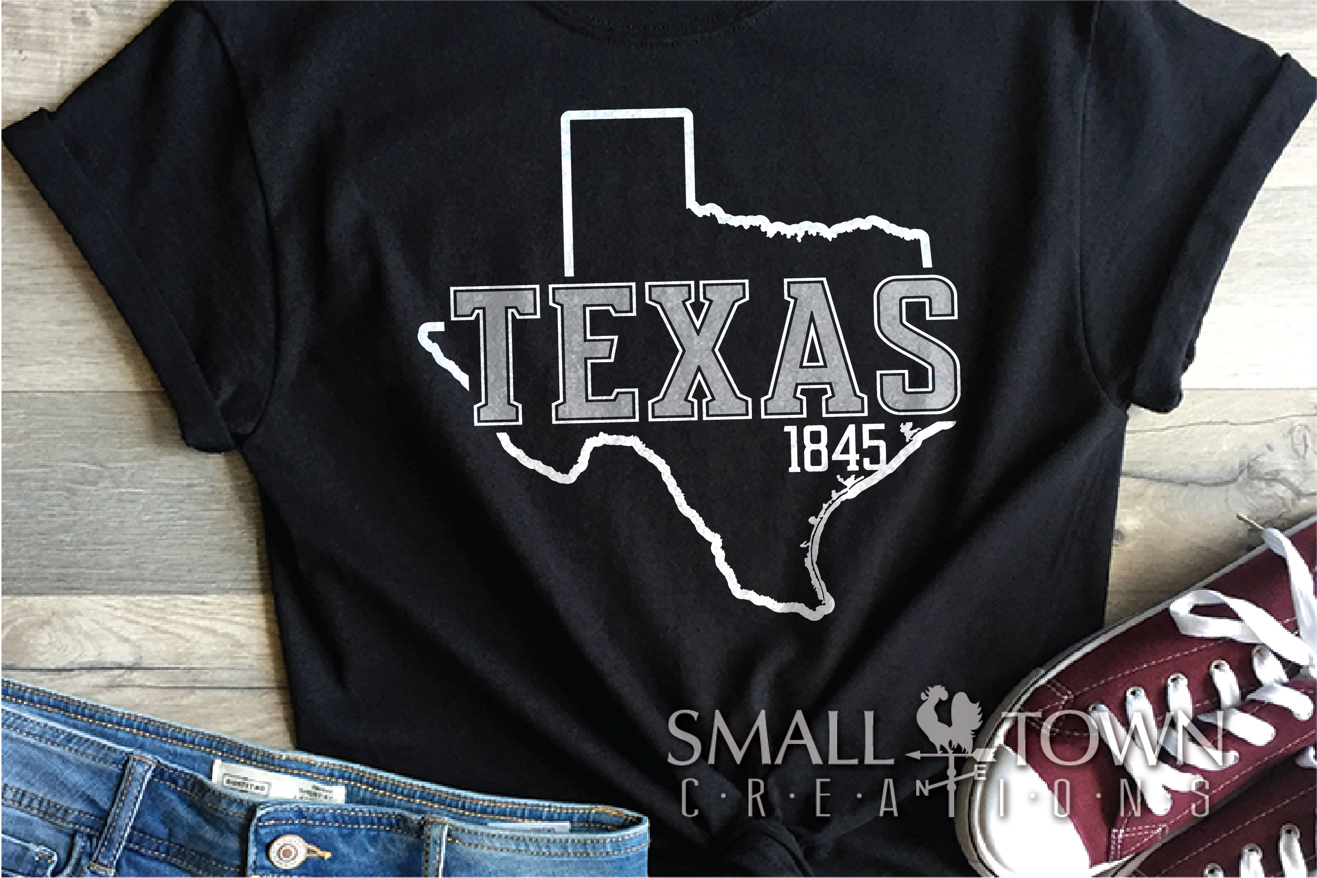 Texas, The Lone Star State slogan, logo, PRINT, CUT & DESIGN example image 4