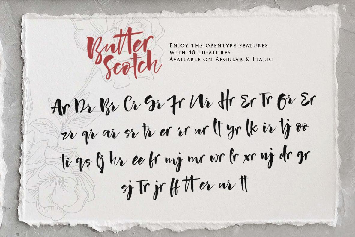 Butter Scotch Script Font example image 14