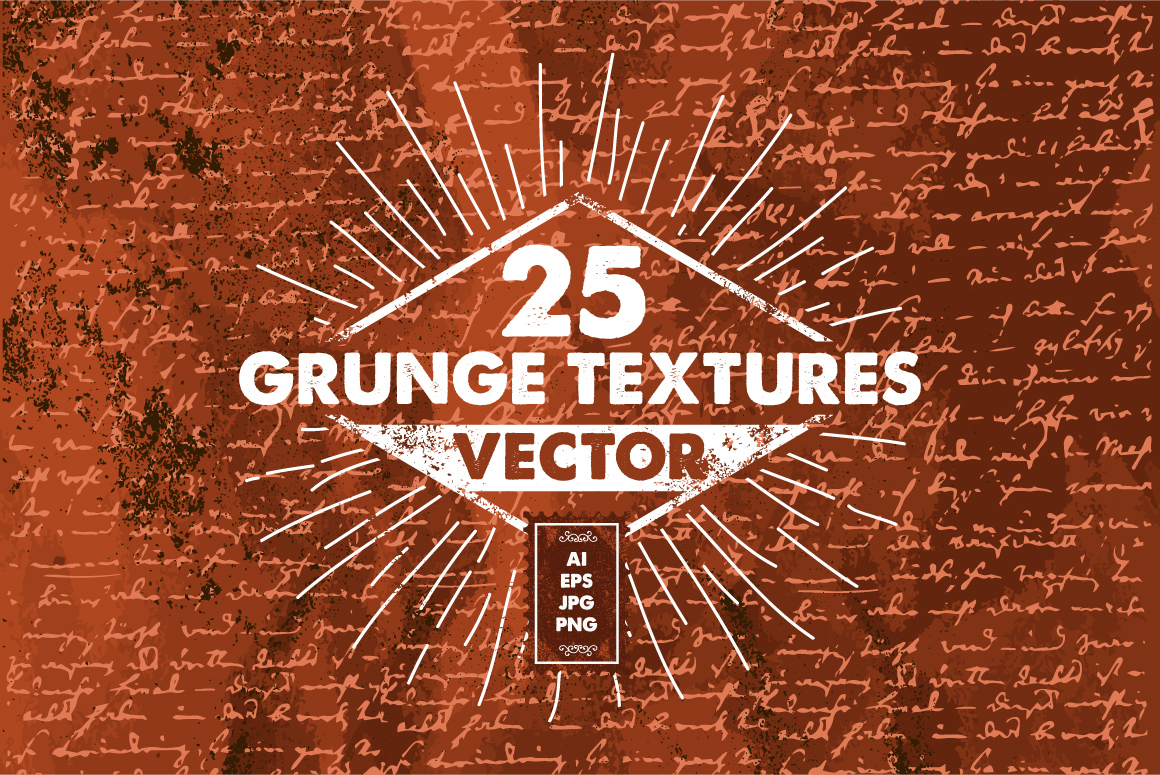 25 Vector Grunge Textures PACK example image 1