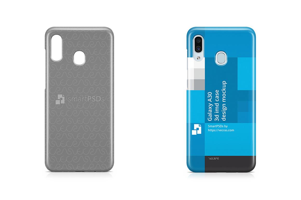 Samsung Galaxy A30 3d IMD Case Design Mockup 2019 example image 1