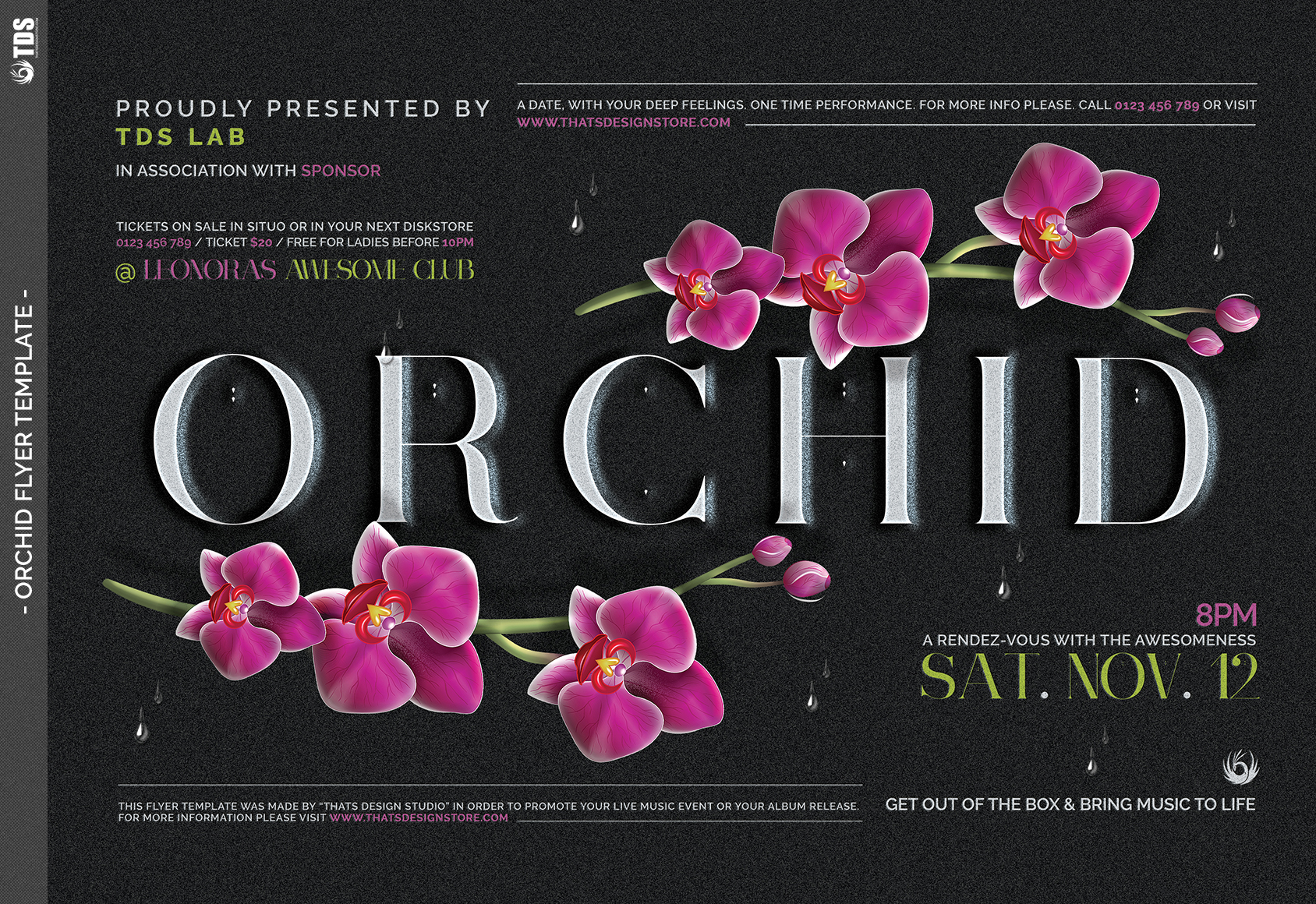 Orchid Flyer Template example image 6