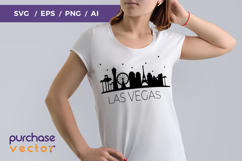 SVG- Las Vegas Skyline Cut file example image 1
