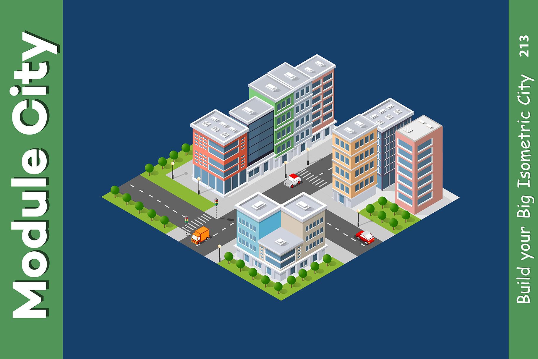 Isometric set module city example image 13