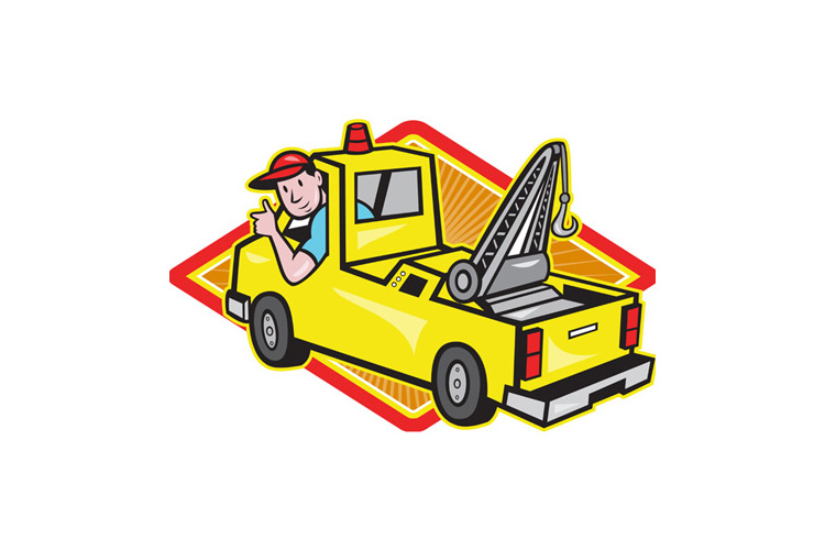 Tow Wrecker Truck Driver Thumbs Up example image 1