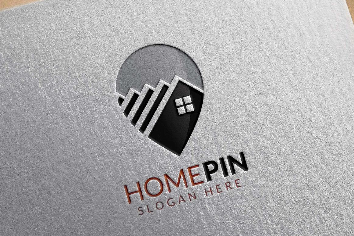 Home Pin Logo, Real estate logo example image 5