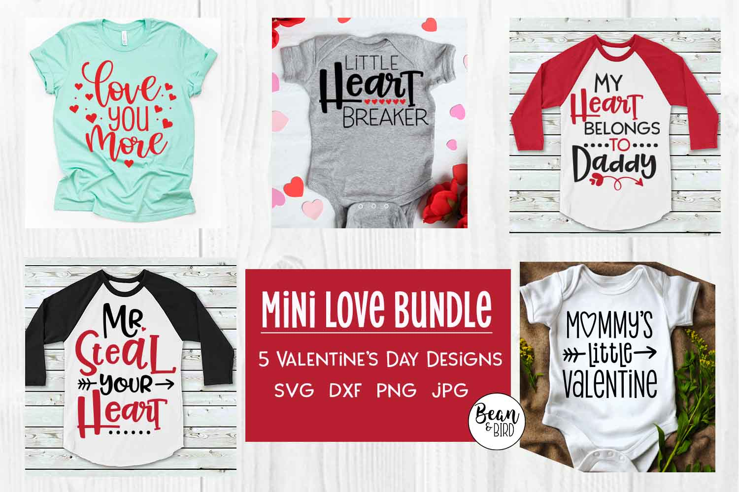 Mini Love Bundle Valentines SVG example image 1
