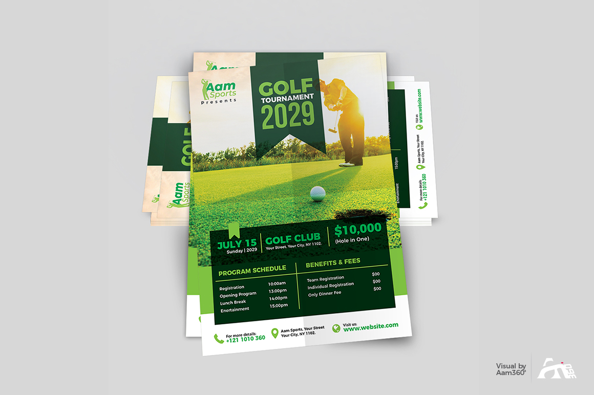 Golf Tournament Flyer example image 4