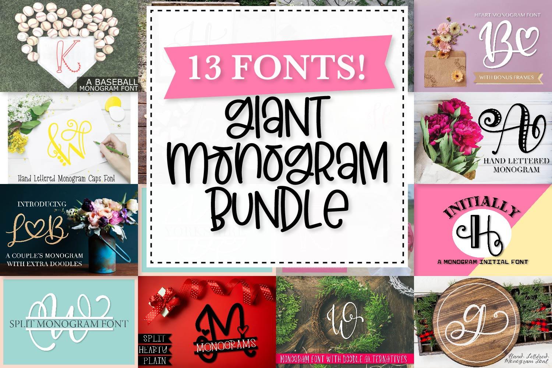 Big Monogram Bundle - 10 of my Best Selling Monogram Packs! example image 1