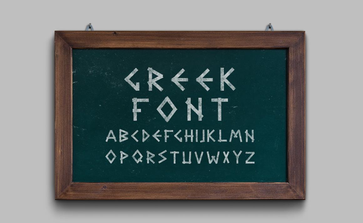 Greek letters - english alphabet. example image 1