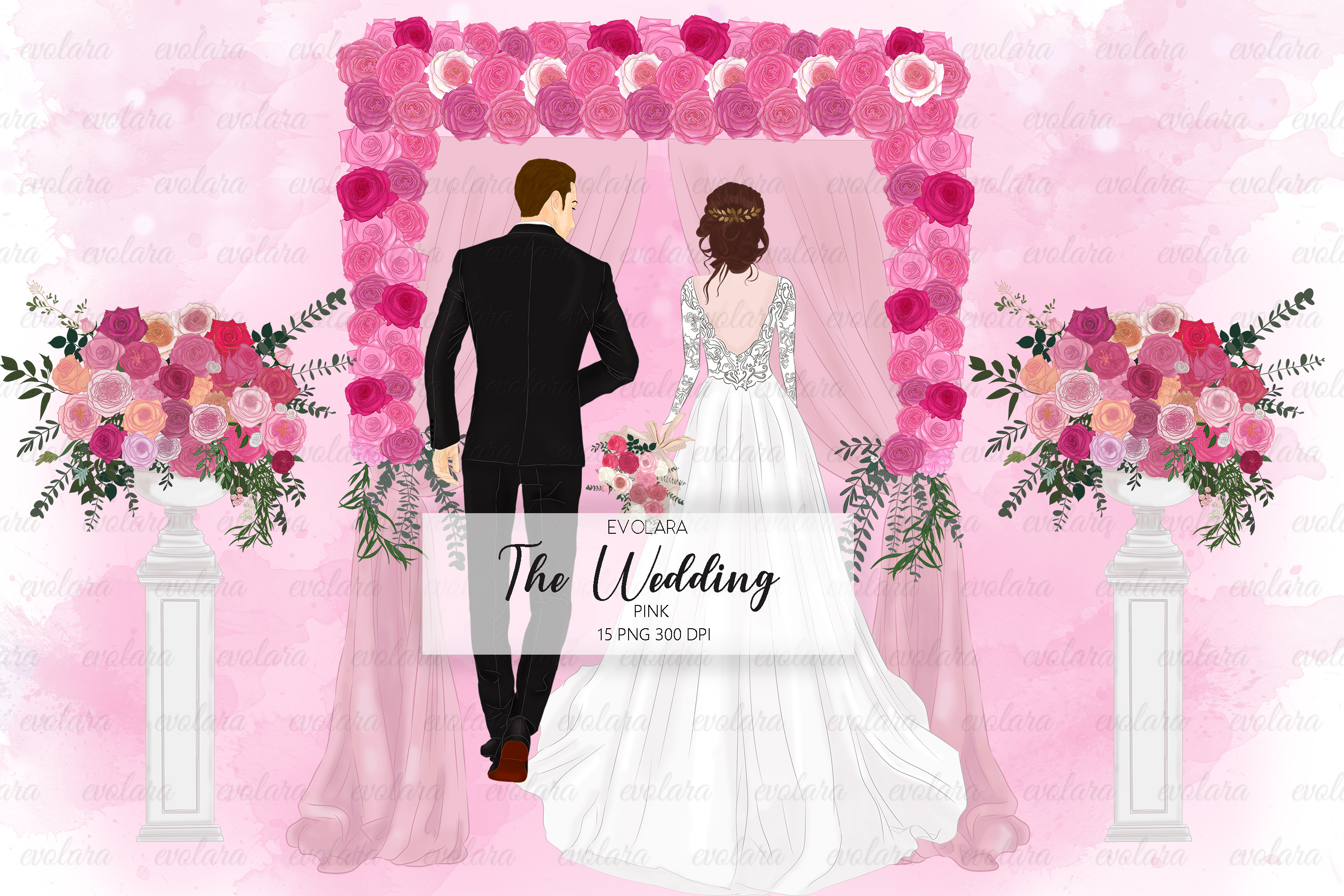 Bride Clipart Wedding Clipart Bride Groom Clipart Bridal example image 1