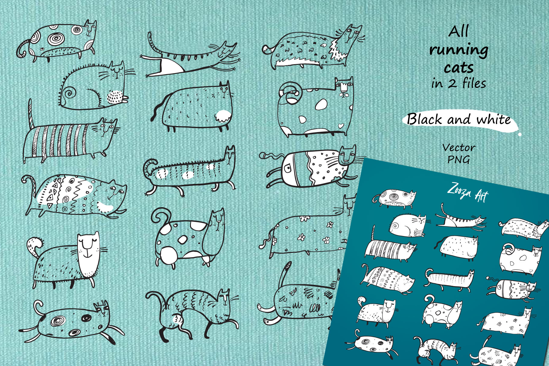 Cats patterns and frames example image 8
