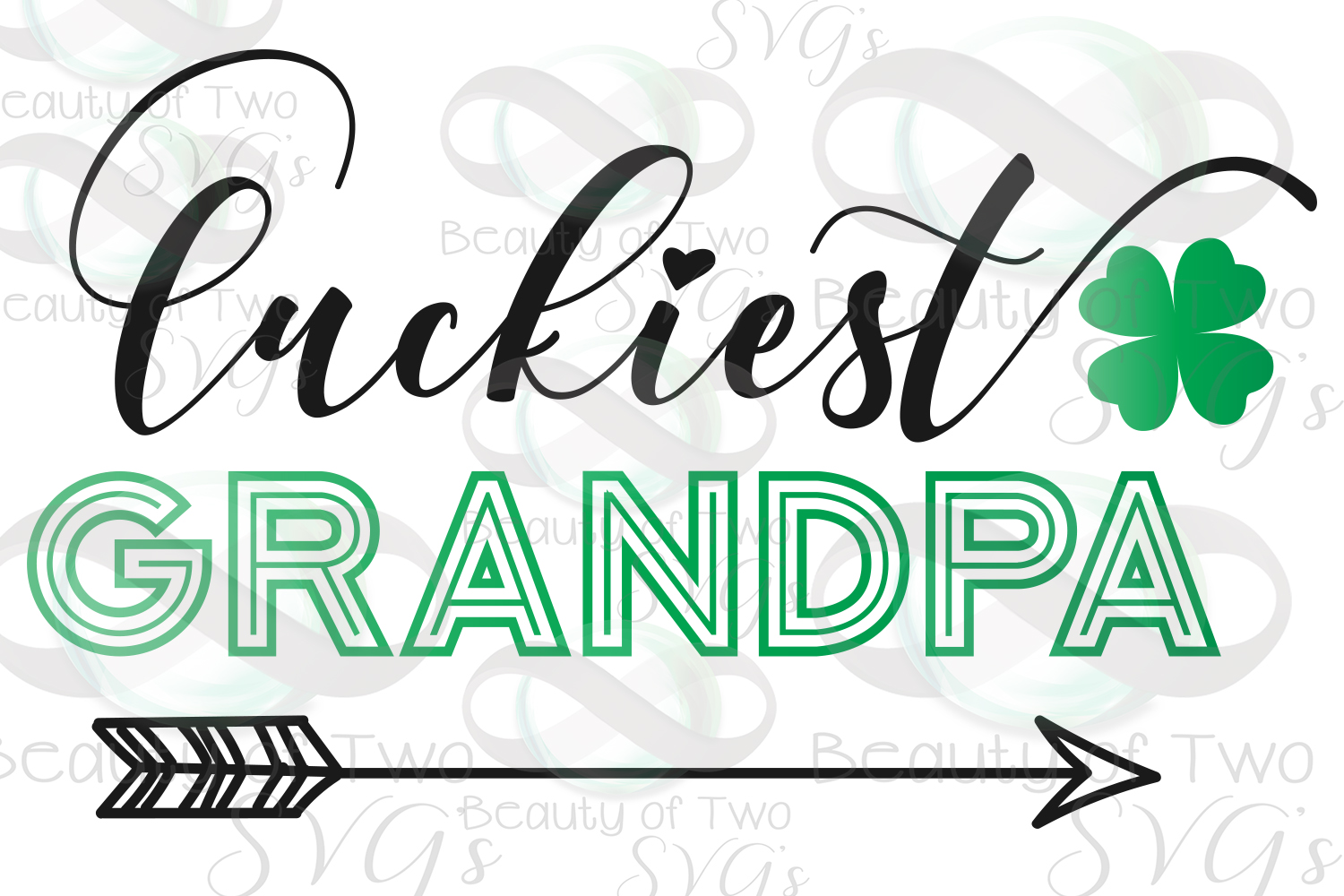 Luckiest Family St Patrick's Digital Sign Bundle example image 7