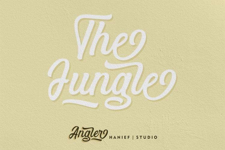 Angler//Modern Script Font example image 6