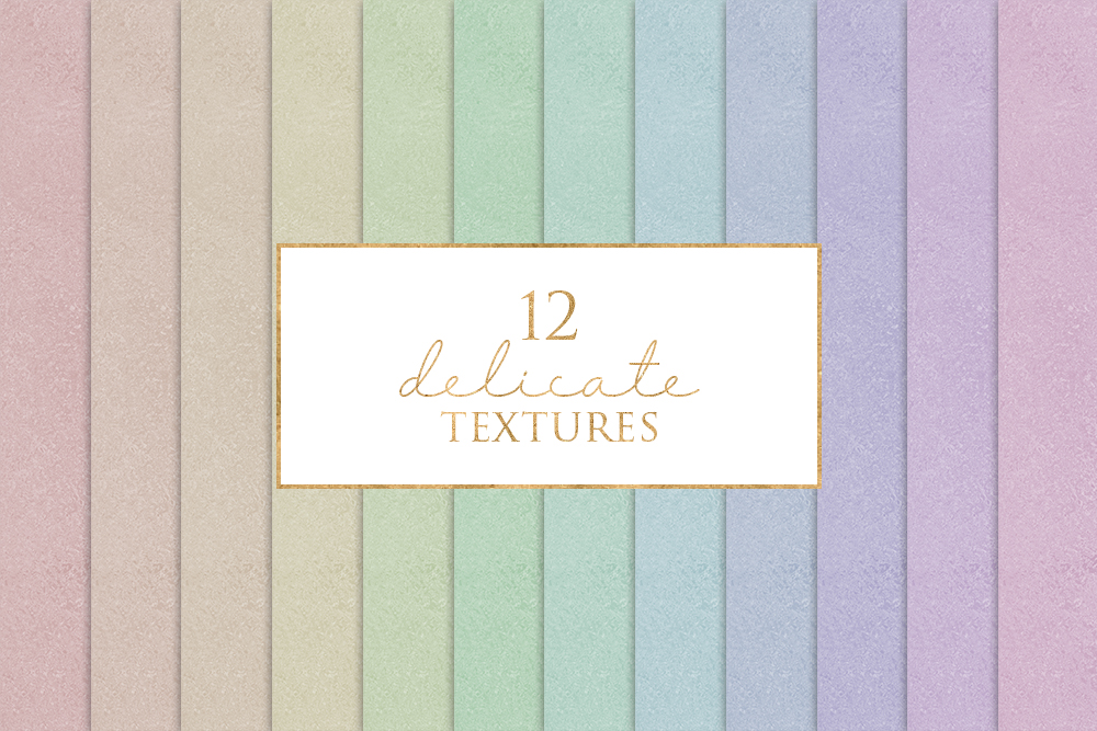 12 Delicate Textures Digital Paper Pack example image 1