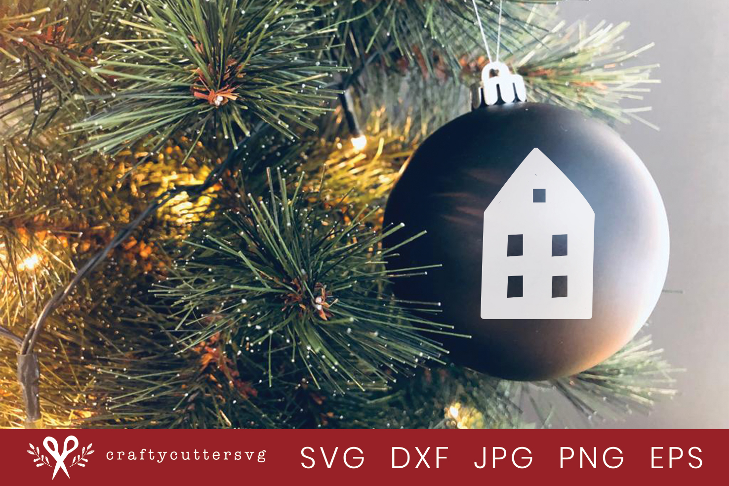 Christmas Decoration House Cut File Bell Clipart example image 2