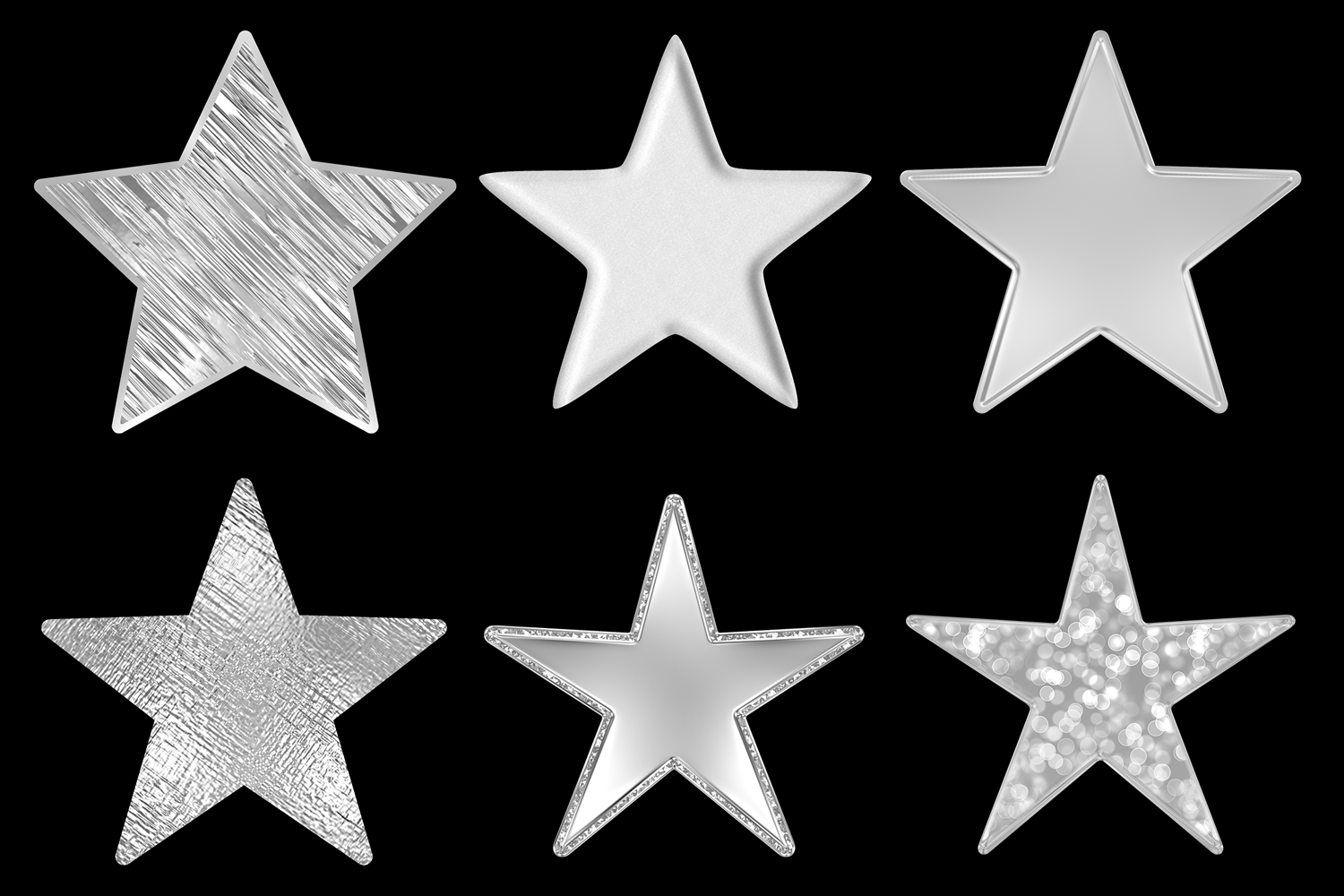Embossed Silver Stars example image 3