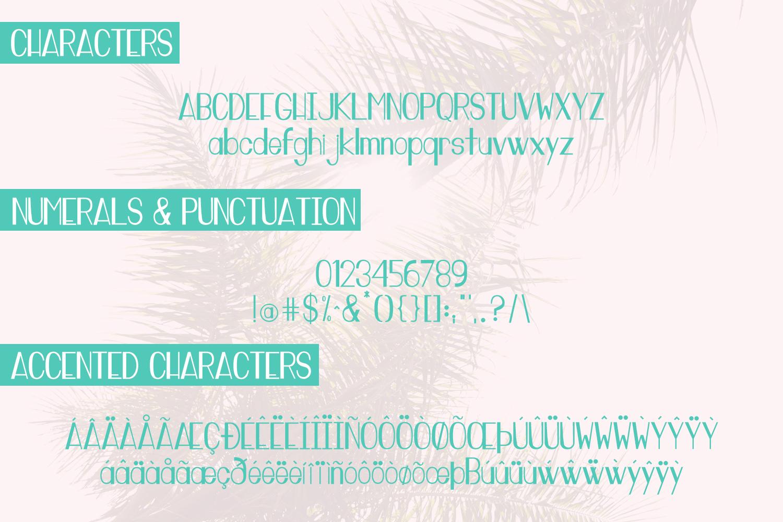 Miami Vibes Art Deco Sans Font example image 7