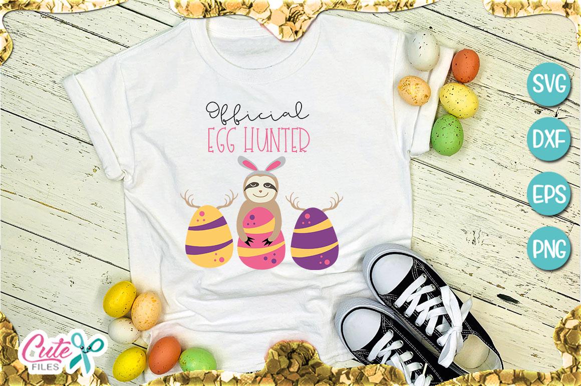 Official egg hunter, Easter svg file for crafter example image 1