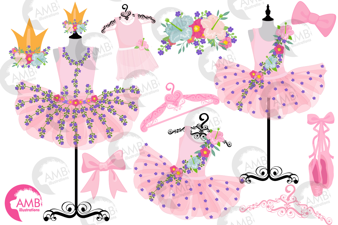Floral Ballerina Tutus clipart, Amb-2609 example image 4