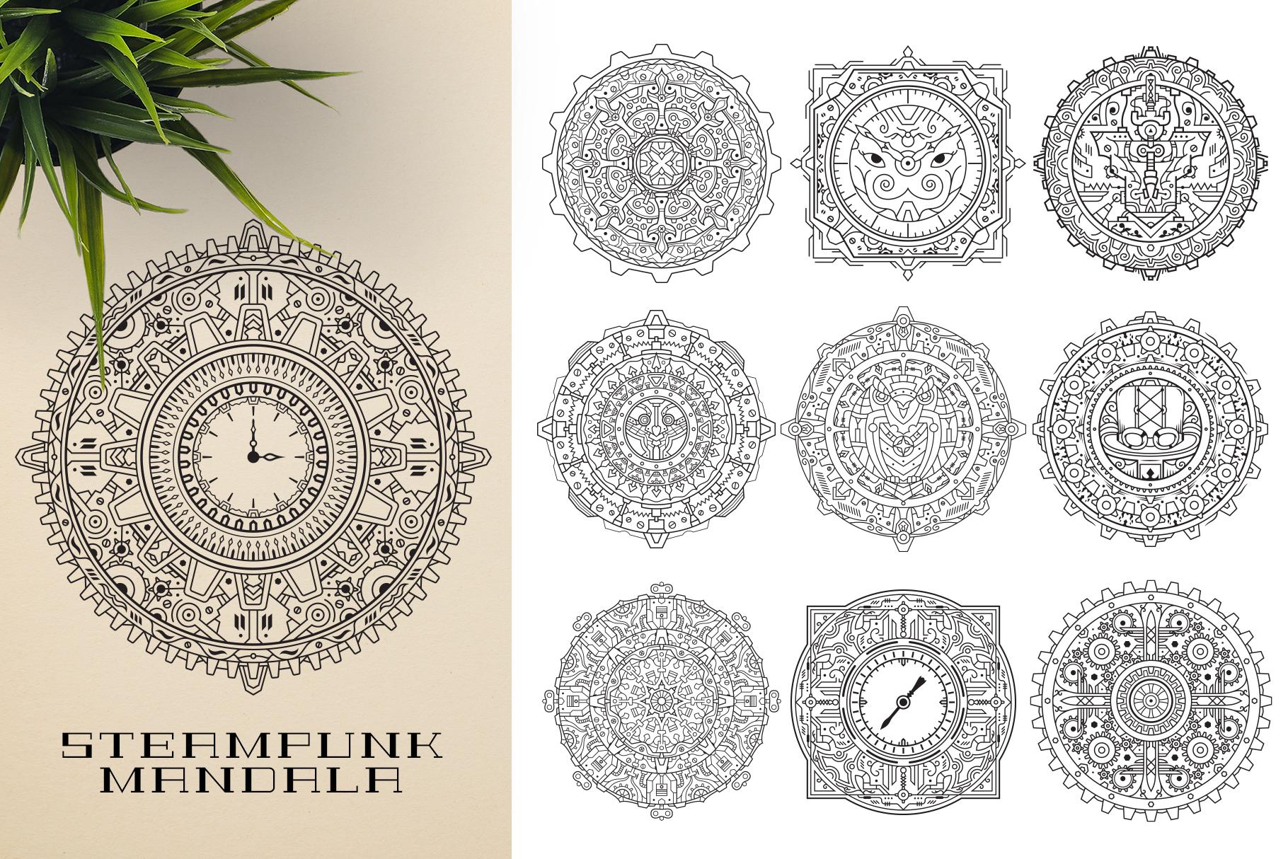 300 Vector Mandala Ornaments example image 22
