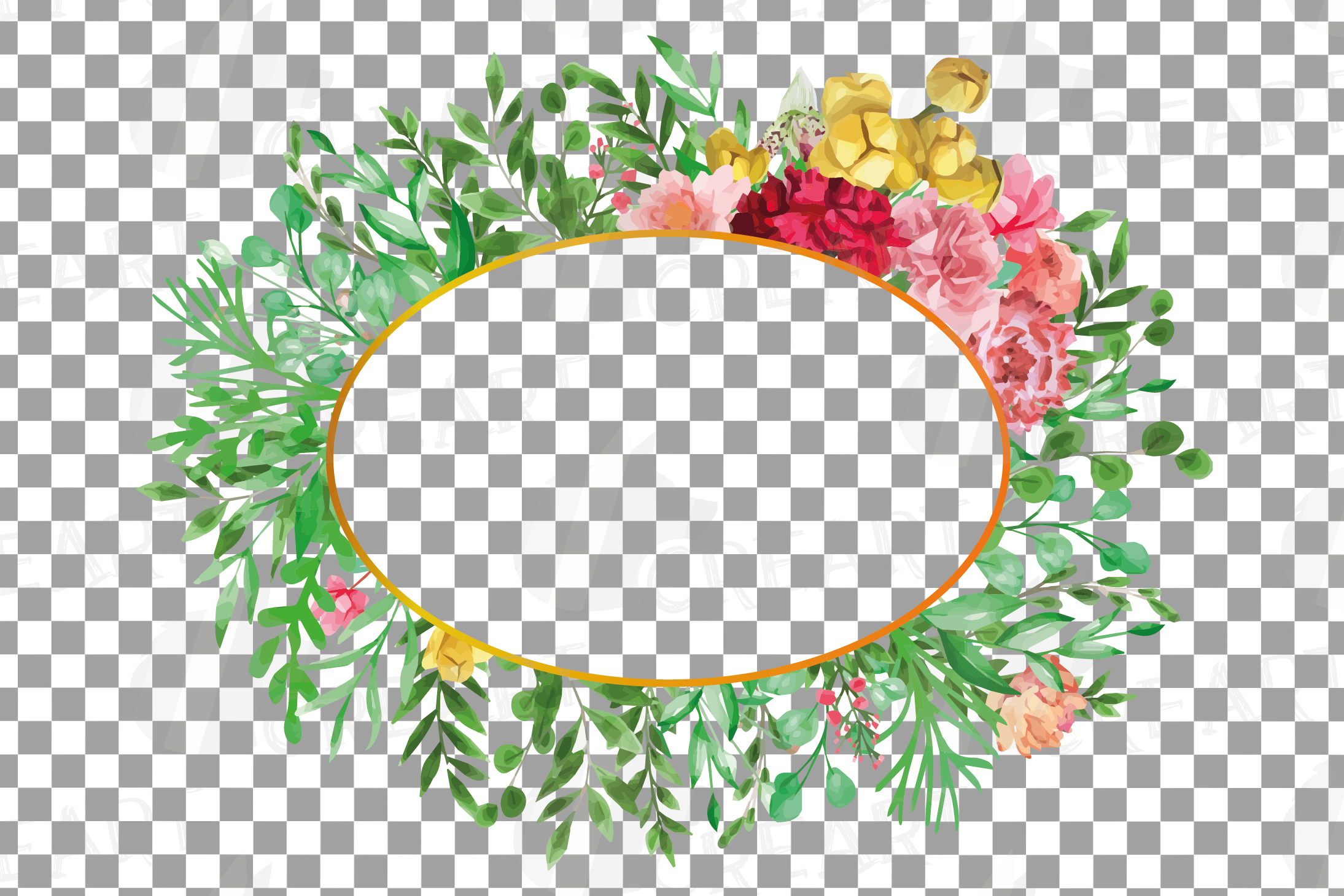 Watercolor floral floral frames and borders clip art pack example image 16