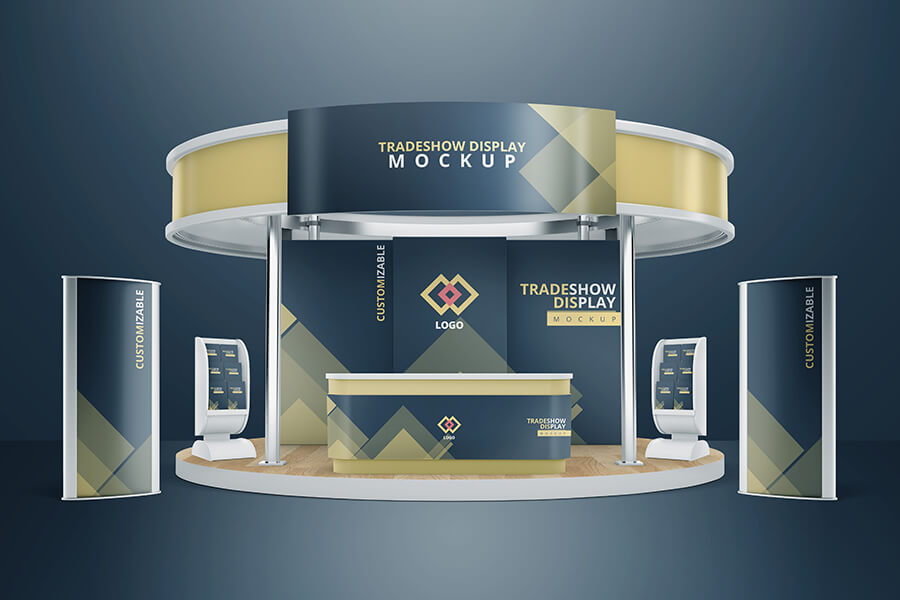 VARIOUS TRADESHOW EXHIBITION BOOTH MOCKUPS example image 7
