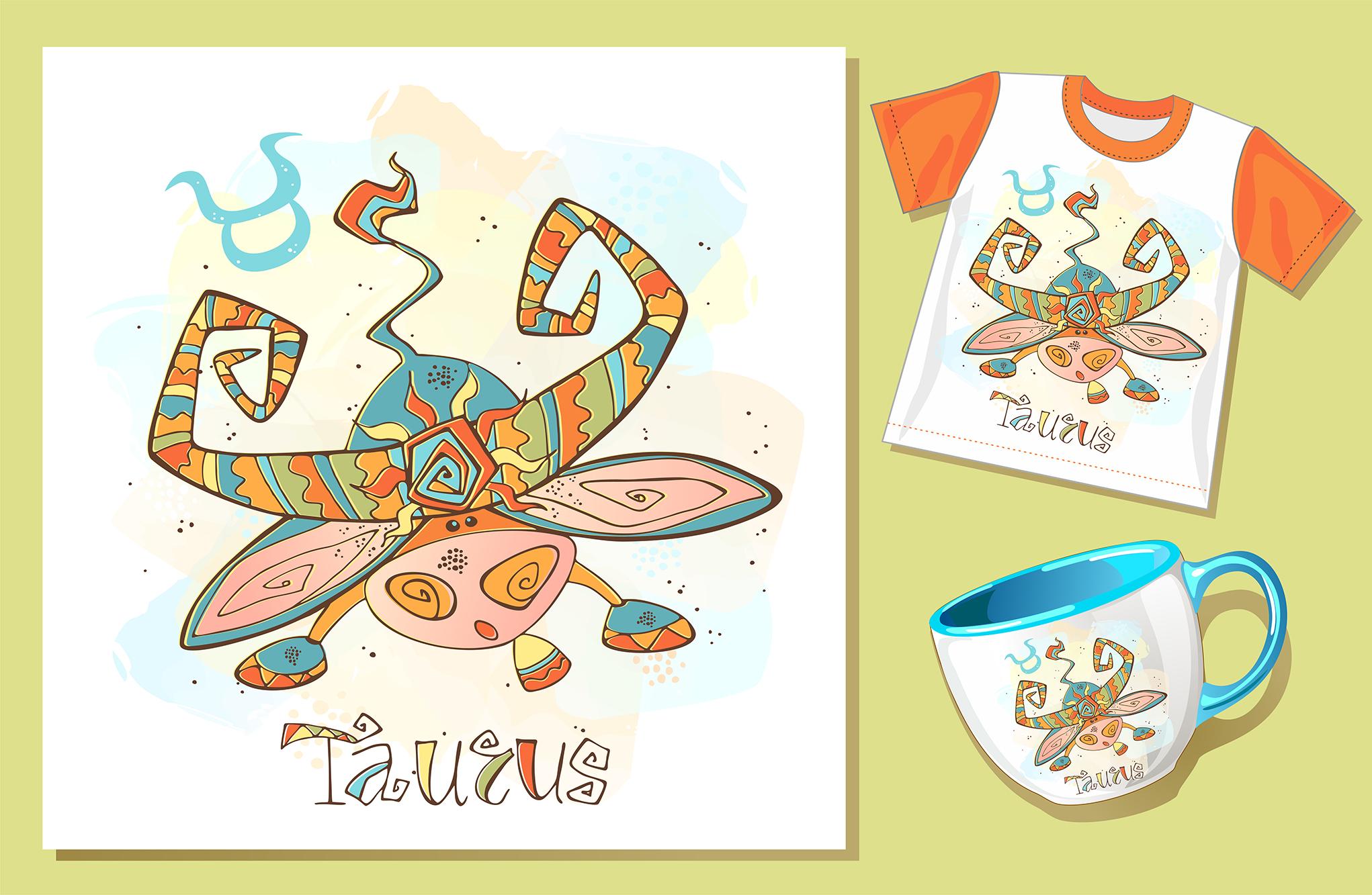Taurus zodiac sign. For children.  example image 3