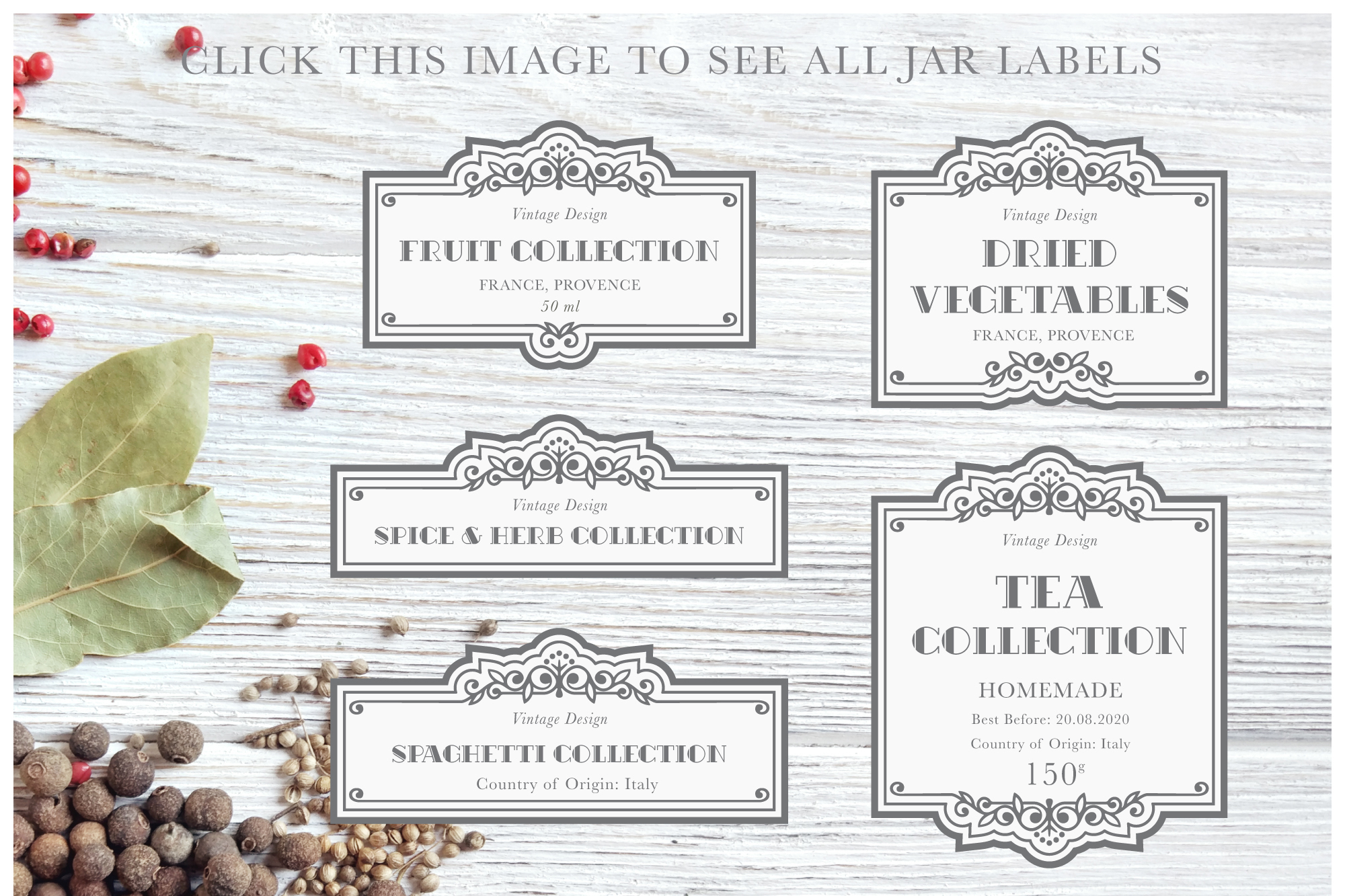 Vintage Pantry Label Collection example image 8